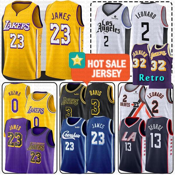 best selling LeBron 23 James LA Kawhi 2 Leonard Clippers Jerseys Anthony 3 Davis Kobe 24 Bryant Kyle 0 Kuzma Paul 13 George 32 Johnson
