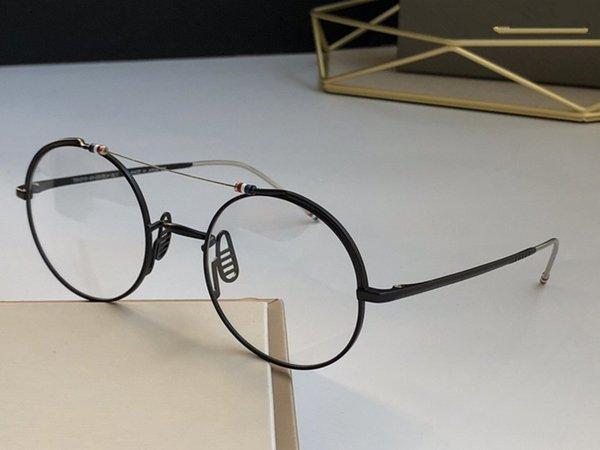siyah çerçeve şeffaf lens