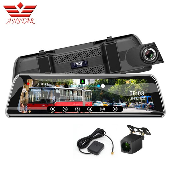 ANSTAR 9.35'' DVR Rearview Mirror GPS Car Carro WDR 1080p Streaming Mirror Video Recorder Night Vision Dash Cam F2.0 Dvr mirrors