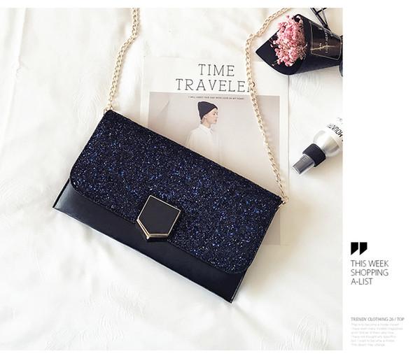 2017 new banquet hand clutch bag lady envelope handbag personality fashion 100 - style hand bag girl.