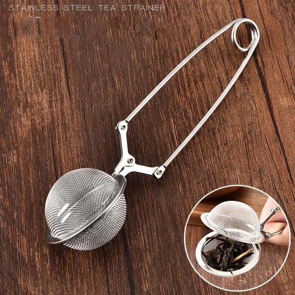 Crépins d'infuseur de boule de thé de cuillère de boule de thé d'acier inoxydable avec des outils de cuisine de poignée