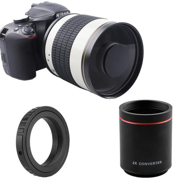 500mm F/8 Super Telephoto Mirror Lens + 2X Teleconverter For Nikon Sony Canon EOS 80D 77D 700D 70D 60D 600D 550D Digital Camera