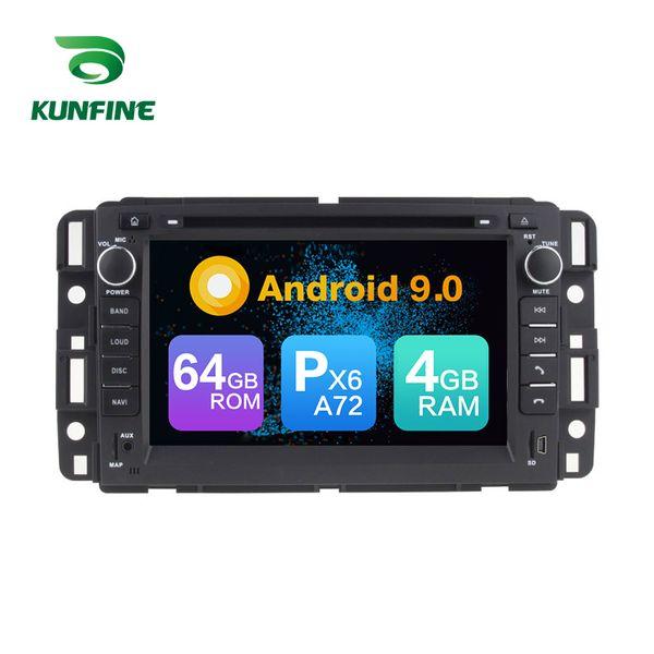 Estéreo del coche del reproductor multimedia GPS GPS del coche ROM de 4G Rom 64G de PX6 A72 de Android 9.0 para GMC / YUKON / SUBURBAN / Acadia / Buick Enclave Radio Headunit