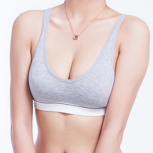 Sport Fitness Soutien-gorge en coton femmes Soutien-gorge Push Up de haute qualité Coton Buste Sous réservoir Gym Soutien-gorge Taille (32 34 36 38) 4 Couleur