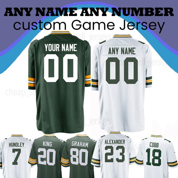 on sale ddd8a 8381f 2019 Custom Jersey 17 Davante Adams 15 Bart Starr 4 Brett Favre 99 James  Looney 76 Mike Daniels 33 Aaron Jones 88 Ty Montgomery 42 Oren Burks From  ...