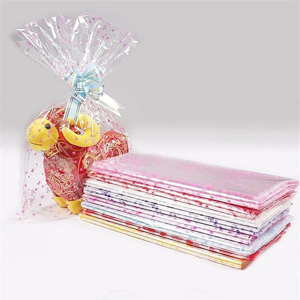 4 Sizes Large Plastic Gift Package Bag Plastic Doll Packaging Bag Clear Cellophane Bakery Christmas Gift Packing Christmas Wrapping Accessories