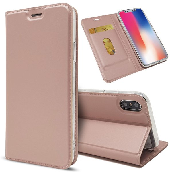 Luxury Designer Phone Case for iPhone X XR XS Max 8 Plus PU Leather Cover Flip Case Hull Holder Stand Photo Frame Cover