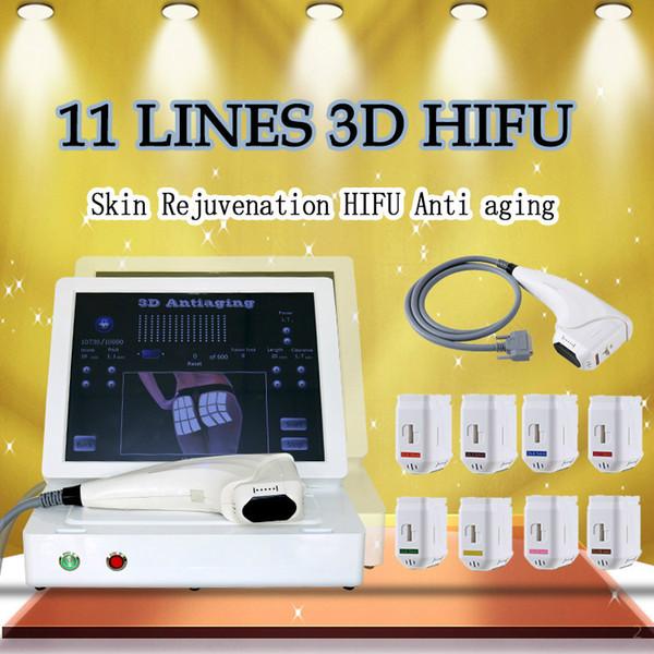 2020 Новый 3D HIFU ультразвуковой подтяжки кожи машина высокоинтенсивного сфокусированного ультразвука для удаления морщин тела лица похудение Hifu машина