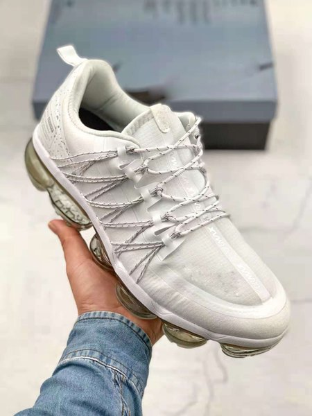 Top Seller White Woman And Man Sneaker Pure White Waterproof Drawstring Function Big Cushion Running Shoe Sale Outlet