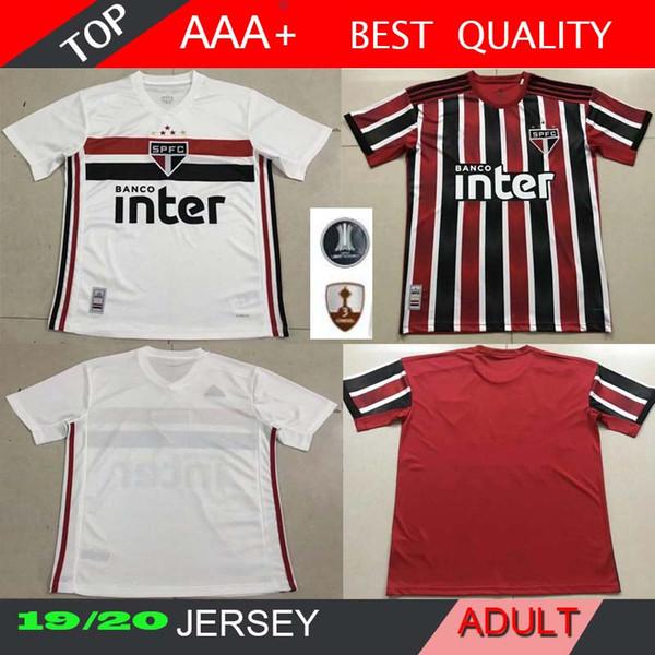 NEW 2019-2020 Sao Paulo Home//Away soccer jersey Man Football shirt S-XXL