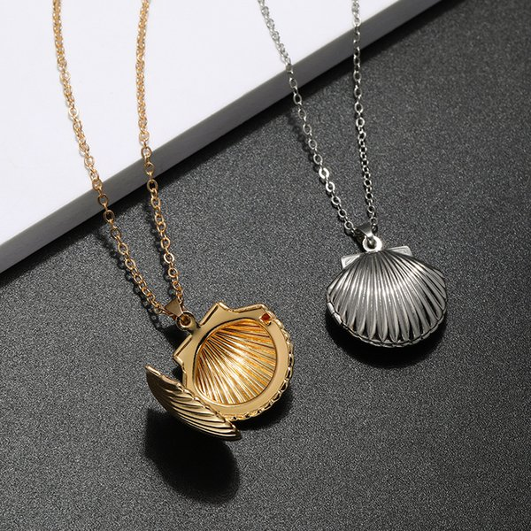 Sterling Silver Antiqued /& Polished Seashell Pendant Best Quality Free Gift Box