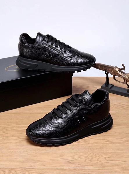 2019 Nuevo diseñador de la marca italiana, hombres y mujeres, zapatillas, guiseppes, remaches de cuero real, zapatillas de deporte recreativas, casuales, zapatillas de deporte xg18091421