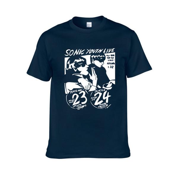 T-shirt giovani Sonic uomini divertente appiccicoso classico band rock vocals band bass guitar punk rock femminile marea marchio camicia manica corta H1