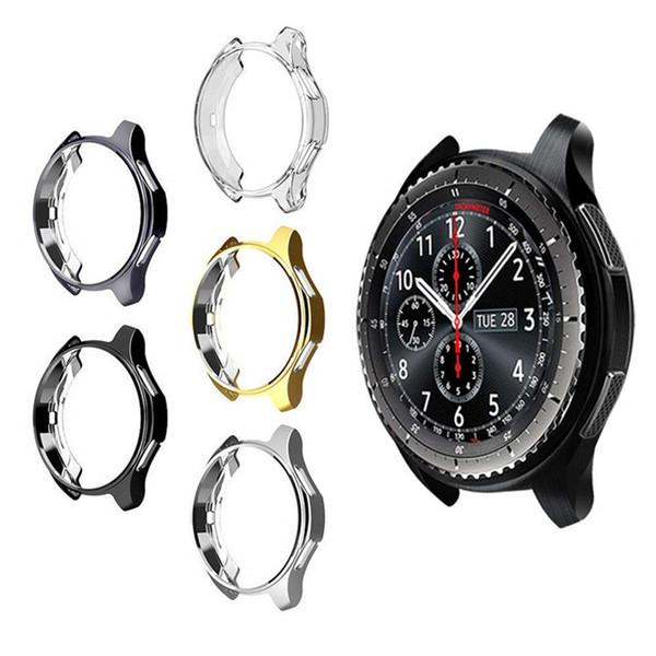 360 grad tpu schutz case abdeckung shell für samsung galaxy watch 42mm sm-r810 46mm getriebe s3 frontier schutzhülle