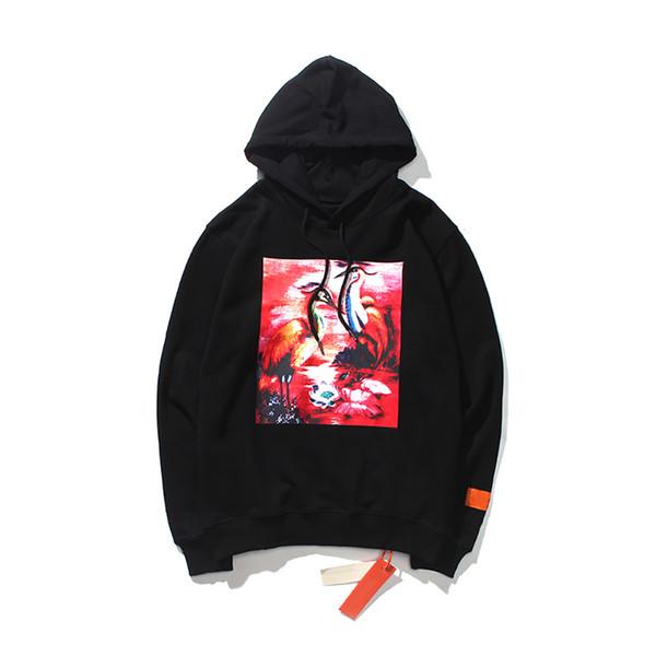 19SS Мужчины Дизайнер Hoodie Heron Престон цапля пара с той же капюшоном свитер роскошь уличного хип-хоп высокого качества бренда спортивные свитеры
