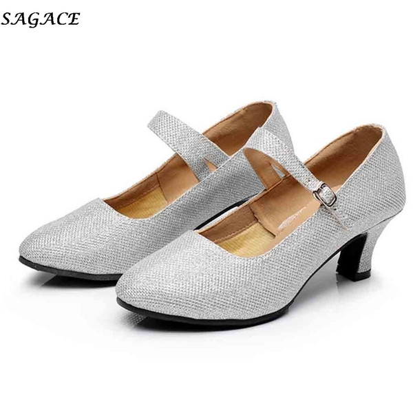 2d341a5432 Designer de Sapatos de Vestido Sagace Mulheres Tango Latina Dança Feminina  de Salto Alto Rodada Cabeça