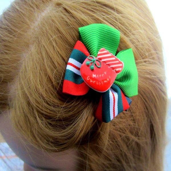 Christmas Design Hair Flowers Clips 2017 New Children Headwear Kids Hairpin Girls Hair Clips Baby Girl Hair Accessories