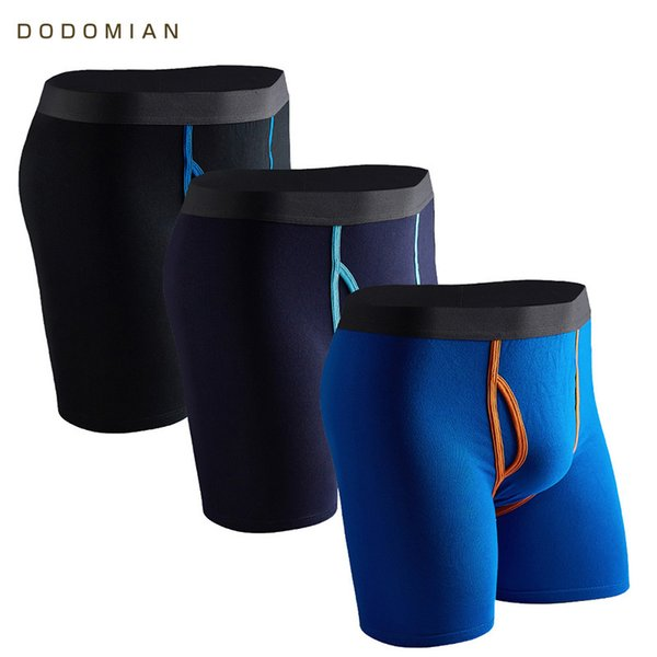 Long Boxers Men 3 Pcs/lot Boxer For Men Cotton Soft Breathable Mens Underwear Men Boxershorts U-convex Us& Eu Size M L Xl Xxl Q190427