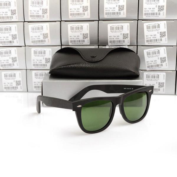 Matte Black Frame Green Lens 54MM