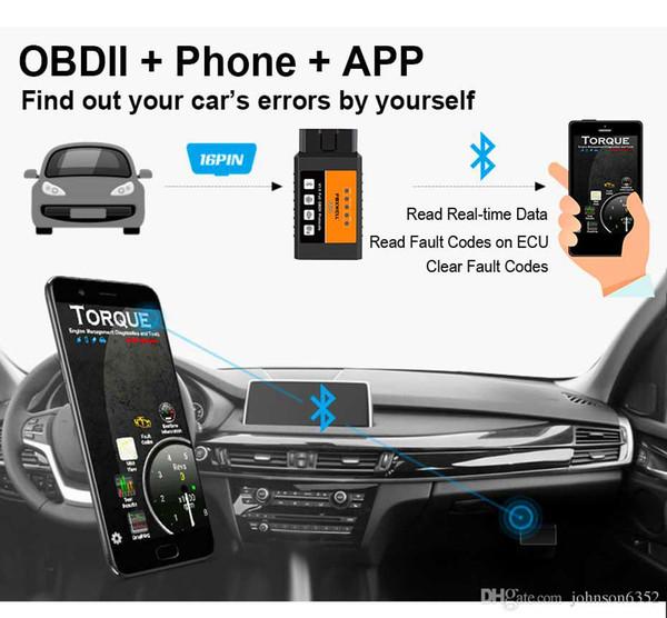 Real ELM 327 V 1.5 ELM327 Bluetooth OBD2 v1.5 Android Car Scanner Automotive OBD 2 Car Diagnostic Tool OBDII Scaner Automotriz