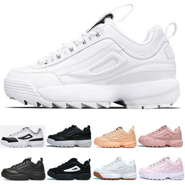 760fa9317ff FILA diseñador hombre mujer zapatillas triple blanco negro rosa gris  diseñador mens entrenadores para mujer de