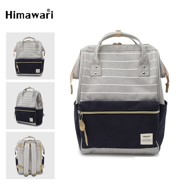 Himawari Fashion Female Backpack Design For Girls Stripped Large Capacity Laptop Backpack Waterproof Schools Bags Travel Mochil #199131