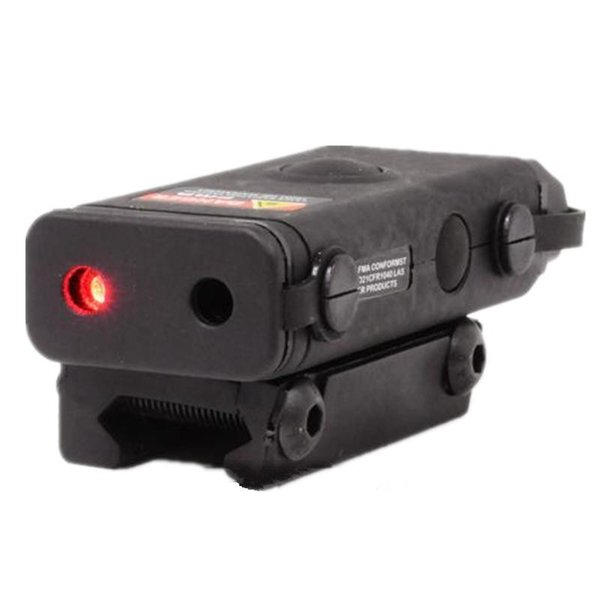 top popular PEQ Tactical Lightweight MiNi PRO-LAS-PEQ10 red laser and LED Flashlight for airsoft hunting nylon made BK DE 2021