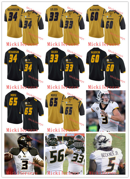 huge selection of 18715 5afc5 2019 Missouri Tigers Football Jersey Charles Harris Chase Daniel Connor  McGovern Mitch Morse Justin Britt Sheldon Richardson Markus Golden Jersey  From ...