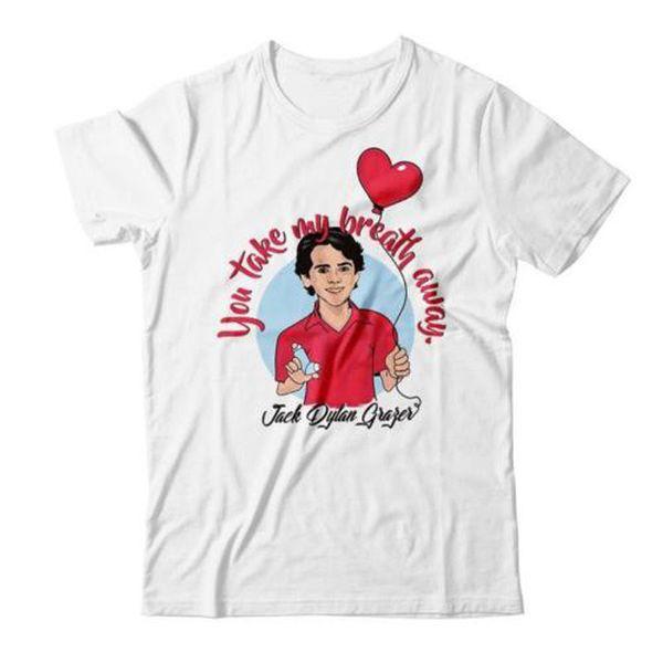 T-shirt uomo 2019 Abbigliamento Jack Dylan Grazer Take My Breath Away T-shirt da uomo