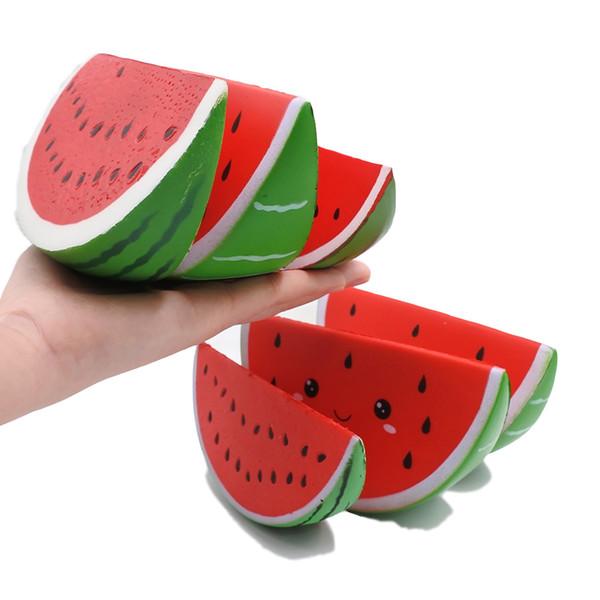 Ucuz özel toptan yumuşak PU köpük kawaii yavaş yükselen güzel jumbo meyve squishies sıkmak oyuncak squishy karpuz