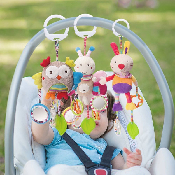 Plush Baby Rattles Stuffed Animals Newborns Mobile Handbells Kids Infant Toy Teething toys