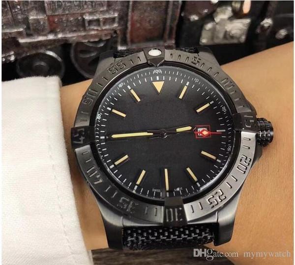 Venta al por mayor - Luxury Men039; s Avenger II Black Bird Watch Acero inoxidable 8213 automático mecánico para hombre Reloj para hombre