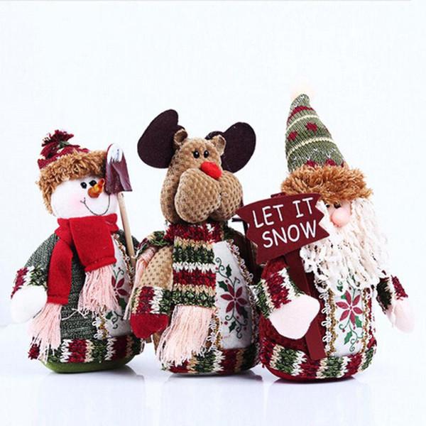 Regalo Decor Ornamenti dell'albero di Natale di Santa Tavolino bambole ornamenti Xmas Party giocattolo decorazione di Natale per la casa festa di Capodanno