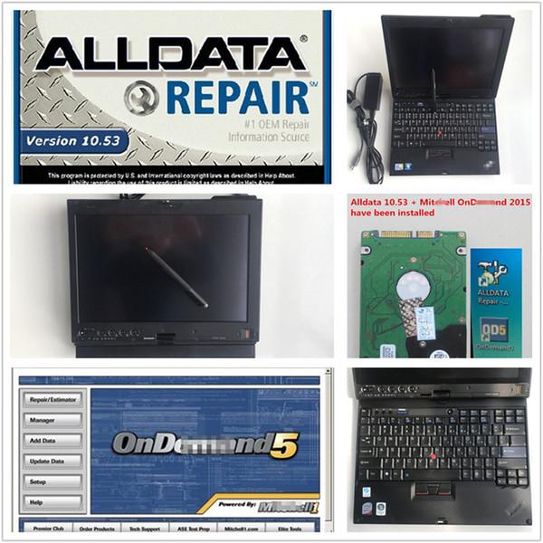il nuovissimo software di riparazione automatica alldata 10.53 e mitch * ll camion per auto con x200t 4g 9300 installato sul touchscreen portatile dhl veloce