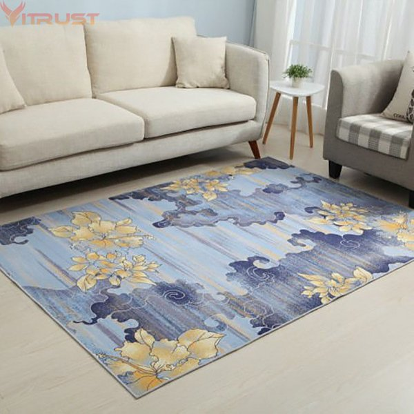 Modern Carpets Flower Rugs Living room Bedroom Kitchen Rugs Floor Mat Bedside Table Study Floor Door Kids Baby Climbing Mats