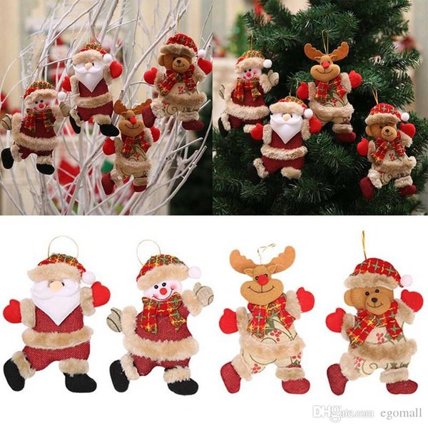 Car Christmas Ornaments.2018 Merry Christmas Ornaments Christmas Gifts Santa Claus Snowman Home Furnishing Decoration Tree Ornaments Holiday Toy Doll Car Exterior