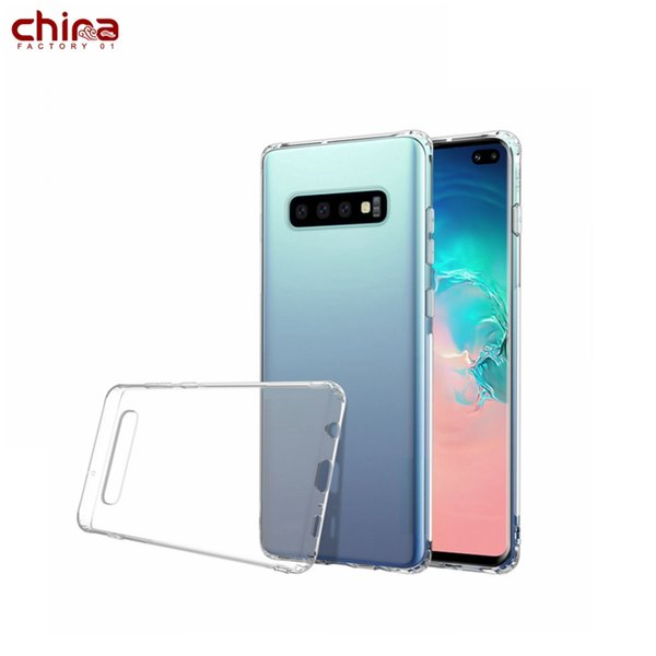 Samsung Cell Phone Case Full protection Soft TPU Phone Cover Crystal clear For Samsung S10 S10+ S10e