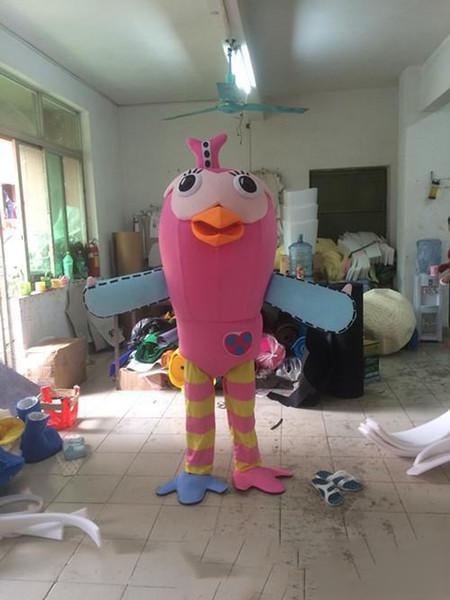 2018 fabrik direktverkauf stelzenvogel maskottchen kostüm niedlichen cartoon kleidung fabrik angepasst private benutzerdefinierte requisiten wandern puppen puppenkleidung