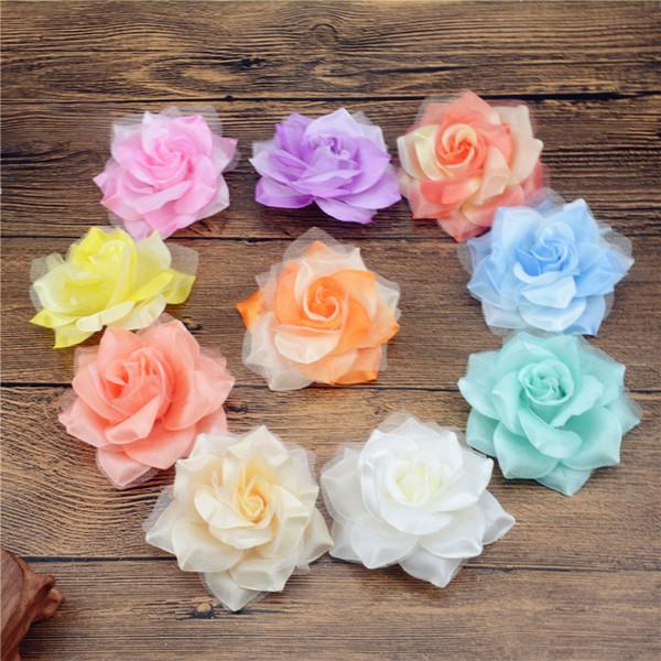 200PCS Yapay Çiçek Büyük İpek 2 Renk Yangın Gül Kafa İçin Düğün Dekorasyon DIY Garland Dekoratif Çiçekçilik Sahte Çiçekler