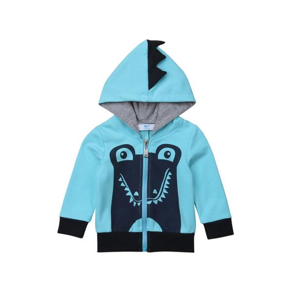 Pudcoco 2019 Nouvelle Marque 1-6T Enfant Garçon Outwear Shark À Capuche Manteau À Capuche Zip up Sweat Pull Veste