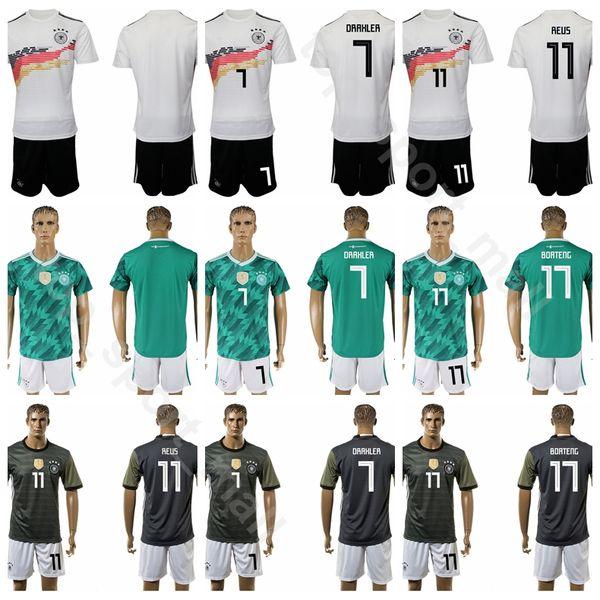 buy online a1861 98395 Compre Alemania 9 Timo Werner Jersey Set Fútbol 8 Toni Kroos 11 Marco Reus  6 Joshua Kimmich Camiseta De Fútbol Kits Uniforme Blanco Verde Gris A ...