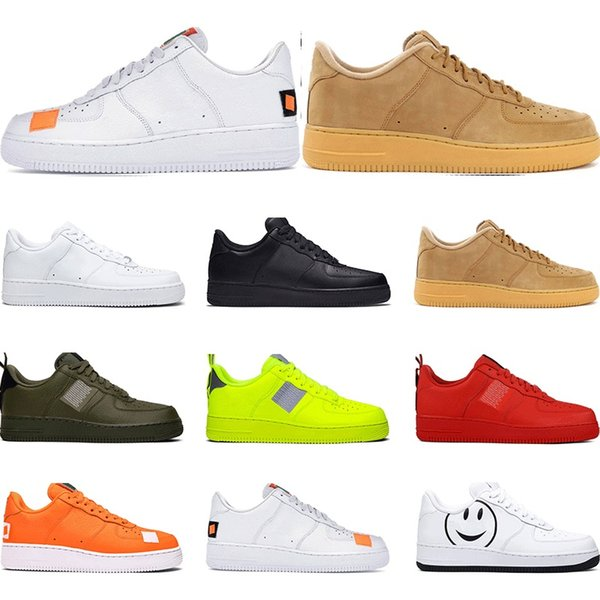 best selling 2019 Men Utility Classic Black White Volt Women Casual Shoes red Skateboarding High Low Cut Wheat trainer Sports Sneaker size Platform 36-45