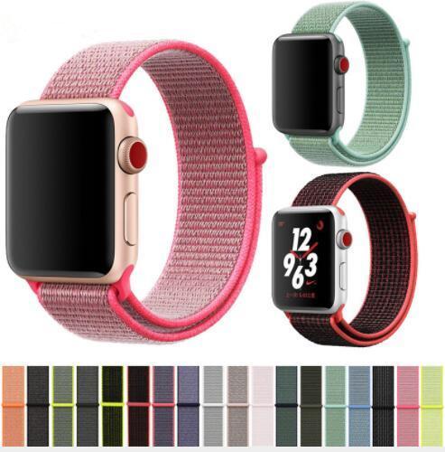 Für Apple-Uhr iWatch Band 44mm 40mm 42mm 38mm Nylon Weiches Breathable Sport-Schleife Verstellbarer Verschluss Handschlaufe für Apple Watch 4 3 2 DHL