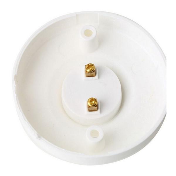 1pc E27 Screw Lamp Base Lampholder Light Bulb Socket Holder Plastic White Round Adapter