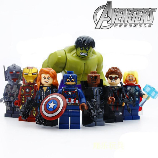 Super Heroes Building Blocks Hulk ironman Thor Black Widow Captain America Hawkeye Block Puzzle Marvel Toys New Year Mini Figures Spiderman