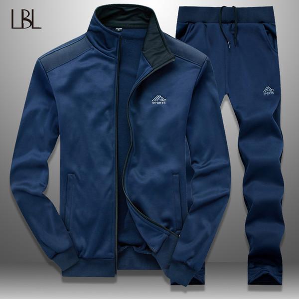 dcc084ed9a99 LBL мужчины спортивный костюм набор тонкий весна 2019 спортивная мужская  спортивные костюмы верхняя одежда куртка тренировочные