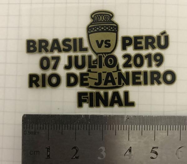 2019 Copa America Brasile finale Partita Dettagli Brasile vs Perù Giornata dettagli Calcio distintivo della zona