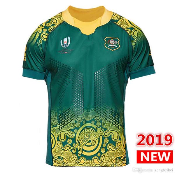 Nome e numero personalizzati 2019 Coppa del mondo di Giappone AUSTRALIA HOME maglie da rugby maglia da rugby maglia wallabies maglie JERSEY taglia grande s-5xl