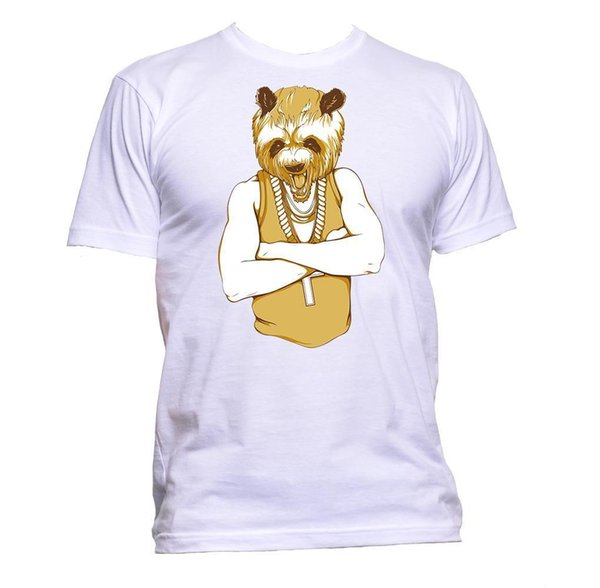 Parody Mafia Gangster Panda Design T-Shirt Mens Womens Unisex Fashion Sloganwhite black grey red trousers tshirt