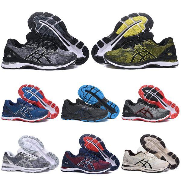 sıcak gel asics gel Jel GEL-Nimbus 20 Istikrar Nefes erkekler koşu ayakkabı siyah beyaz gri kırmızı erkek eğitmen spor sneakers